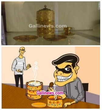 Rs 130 cr Nizam ka Golden tiffin Box Churakar Choro ne Golden Tiffin Mai Khayi Hydrabadi Biryani