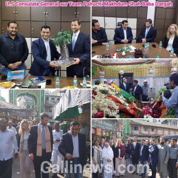 Mahim Dargah Pahunche U.S Consulate ke General Mr Thomas L Vadja Apni Team ke Sath