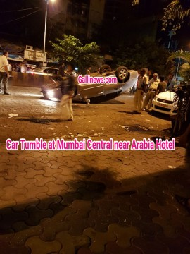 Car Tumble at Mumbai Central near Arabia Hotel