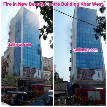 Fire in News Beauty Centre Building Khar West