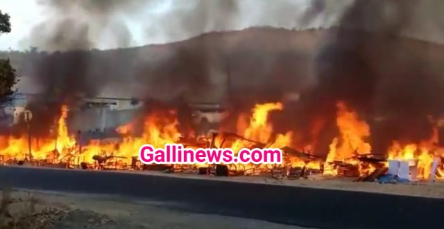 Fire in Second Hand Furniture Godown at Boiser