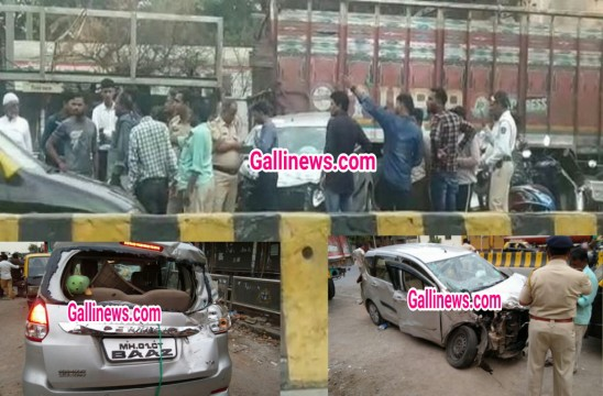 Full speed car rams into BEST Bus stop 1 death 5 injured at sewri