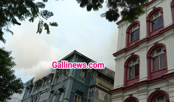 Fire in Colaba Bldg Behind Taj Mahal Hotel