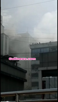 Fire in MTNL Building at S V Road Bandra