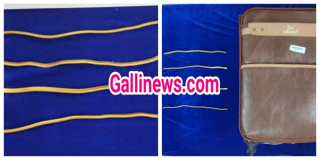 22 lakh Gold Smuggling in Wire Shape passenger  arrested at Chennai Airport
