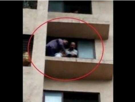 Unidentified Woman Tries To Commit Suicide from 6th floor at Thane