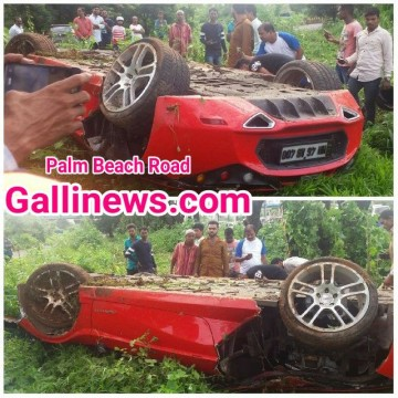 Palm Beach per Sports Car ka hua accident