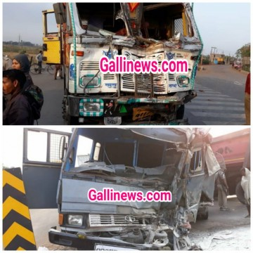2 policemen died 17 injured in Truck and Police Van accident at Jharsuguda Odisha