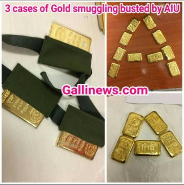 3 cases of gold smuggling busted by AIU