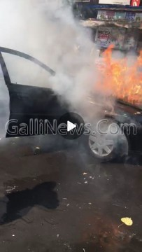 Car Caught Fire at Crawford Market
