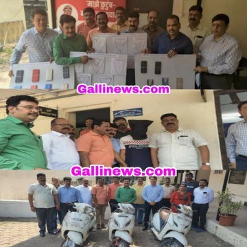 3Bike 106gms Gold 15 Mobile Phone Seized From  2 Irani Gang Member  Thane Crime Branch Wagle Unit 5
