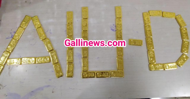 44 Gold bars seized Total value 6 crore 74 Thousand at Mumbai Airport by AIU
