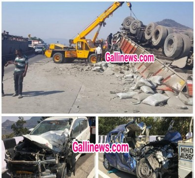 4 dead and 5 injured in Accident at Mumbai Pune Highway