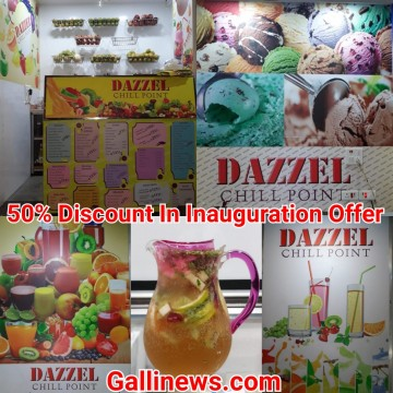 50 Pratishat Dazzel Chill Point Inauguration Offer Discounts