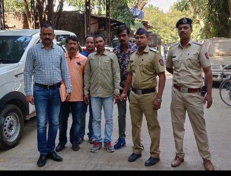 Murder kar Farar Aaropi  Gujarat Se  Arrest Thane Crime Branch Unit 1