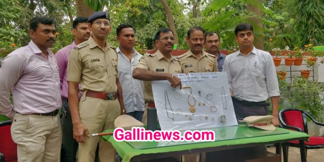 6 lakh 85 thousand ki  Gharphodi kar ke chori ki hui Jewellery recovered by Wagle Estate Police station Thane