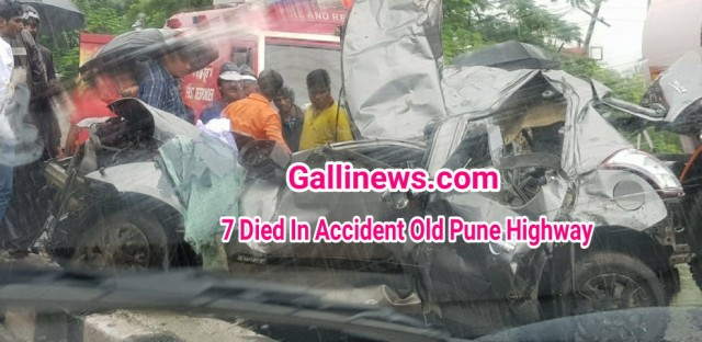 7 died in Old Mumbai  Pune Highway  Accident