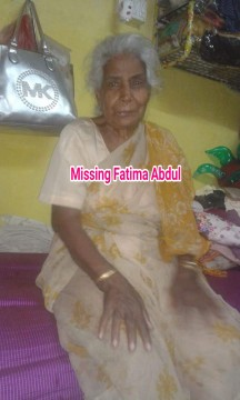 80 Yrs Old Senior Citizen abnormal lady Missing