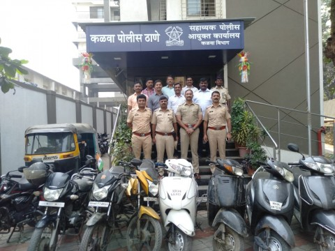 8 Bike 1 Auto Rickshaw Seized Chor Arrested by kalwa Police station at Thane