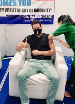 Actor Anup Soni Takes His First Dose Of Covid19 Vaccine