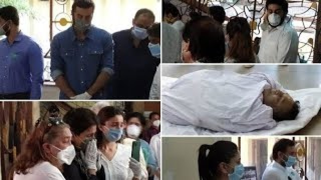 Actor Rishi Kapoor Last Rites in Chandanwadi Crematorium