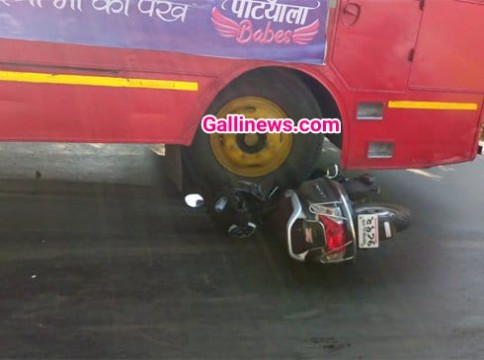 BEST Bus Bike accident 1 ki death 1 injured at Aarey colony