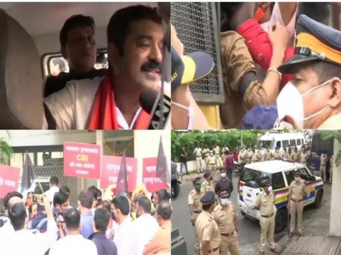 BJP MLA Ram Kadam Palghar Lynching Protest March mai detained by Police