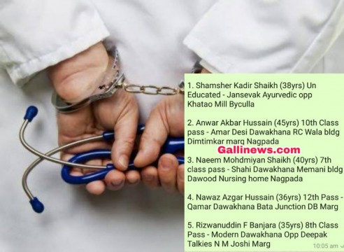 5 Bougus BUMS Doctor arrested by Crime Branch in South Mumbai
