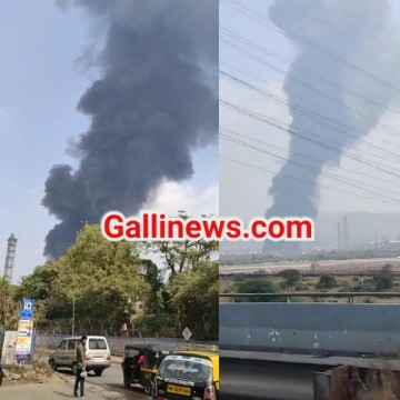 Fire in BPCL Company at Mahul Trombay
