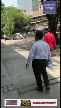 Bmc removing the posters put by dadar shopkeepers in protest of lockdown of retail stores
