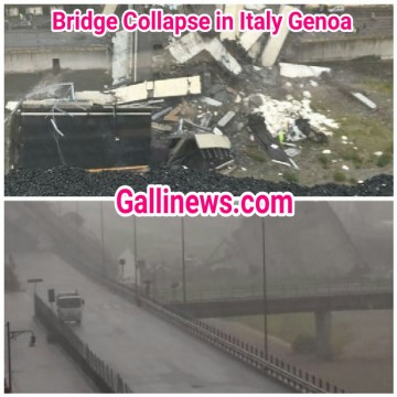 Bridge Collapse in Italy Genoa