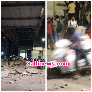 Foot over Bridge Collapses out side Mumbai CSMT station some people injured