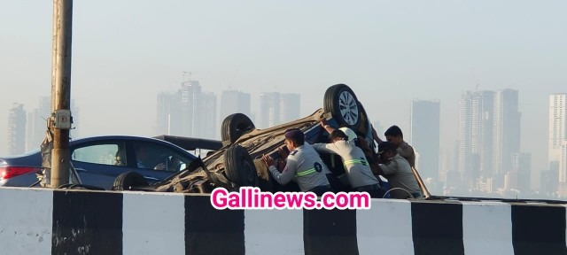 Car Hui Palti at Bandra Reclamation