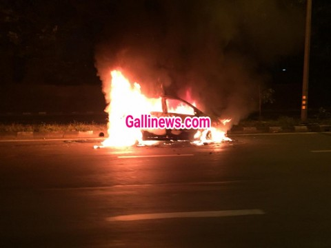 Car main lagi aag at Eastern Express Highway Vikhroli