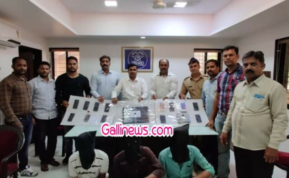 Chori and Gharphodi ke 7 case ke 4 aaropiyon ko Crime Branch Unit 2 Panvel ne kiya arrest