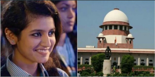 Controversial Malayalam Movie Actress Priya  Malaraya and Director Moves Supreme Court on Controversial song titled Manikya Malaraya Poovi Of Malayalam Movie Oru Adaar Love
