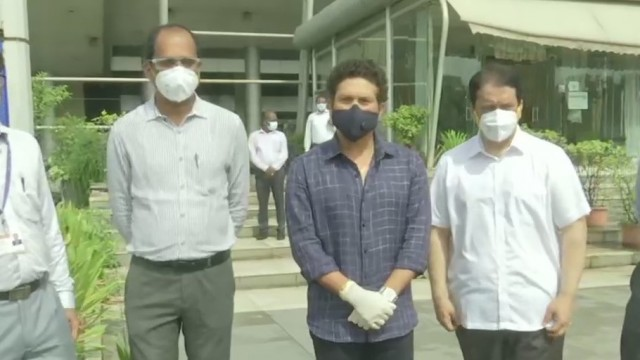 Cricketer Sachin Tendulkar ne Plasma Donation Centre kiya Inaugurate