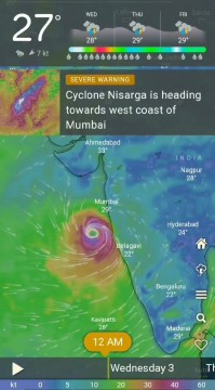 Cyclone Nisarga Make Landfall near Alibaug From 1pm to 4 pm
