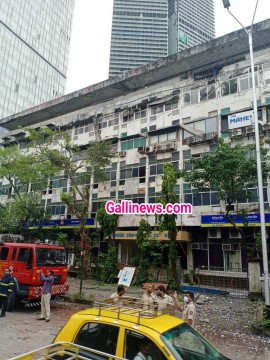Cylinder Blast and Building Portion Collapse near Old Passport Office in Worli