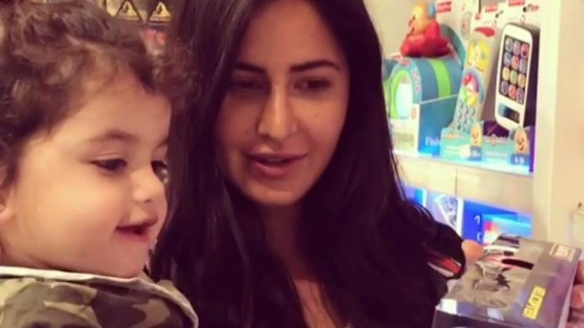 Katrina Kaif shops for toys with a baby at the airport