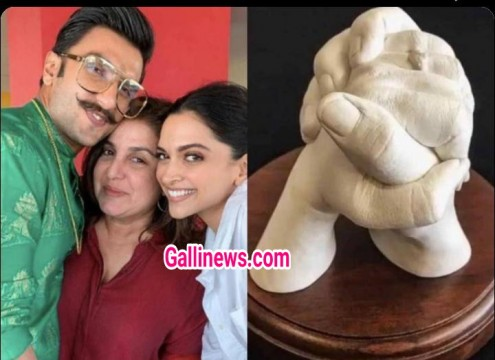 Deepika Ranveer ko Farah Khan ne diya Clay Casting Hand as Wedding Gift