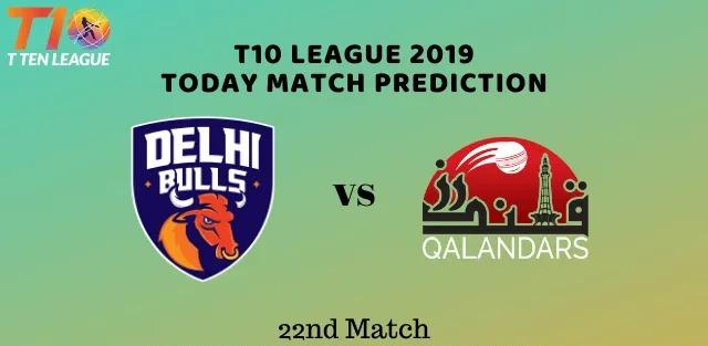 T10 League 22nd Match DelhiBulls vs Qalandars in Abu Dhabi