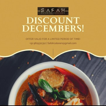 Discount Decembers by Safah Catering Services with Free Starters