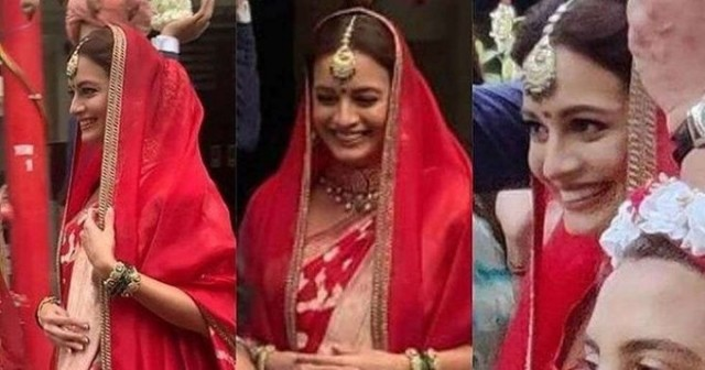 Dulhan Bani Dia Mirza First Picture From Her Wedding