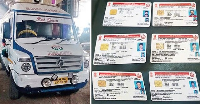 Ambulance Driver Arrested for Fake Driving licence racket busted by Bandra Police