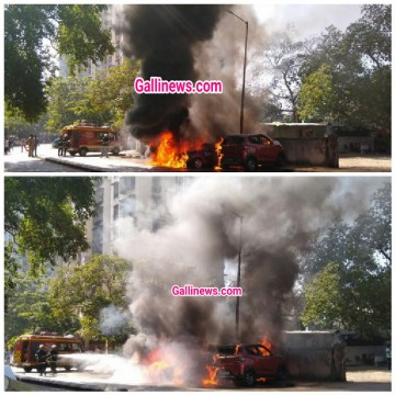 Fire catches in 3 car at Bhandup