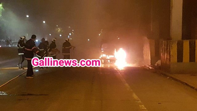 Fire In A Taxi at PD Mello Road