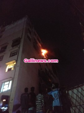 Fire In Residental Building On 7th Floor At Royal Palm Goregaon East Aarey Colony