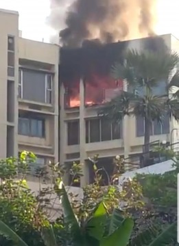 Fire in Building at Bandra  1 dead and 1 critically injured