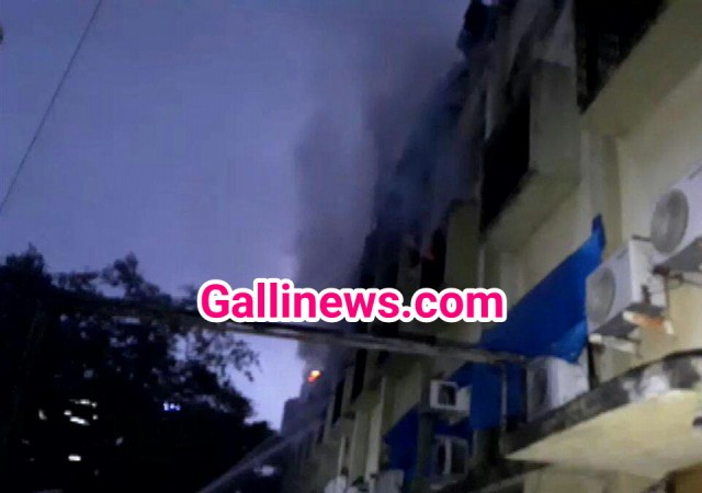 Fire in Cama Industrial Estate at Goregaon East